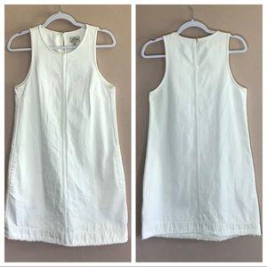 J. Crew White denim cotton shift dress 2